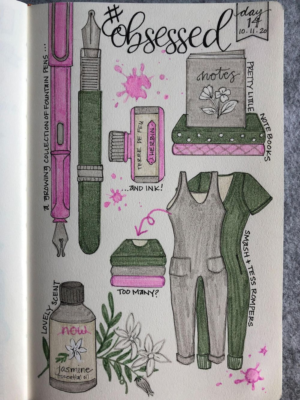 Illustrated Journalling 28 day challenge- PT 1 - image 1 - student project