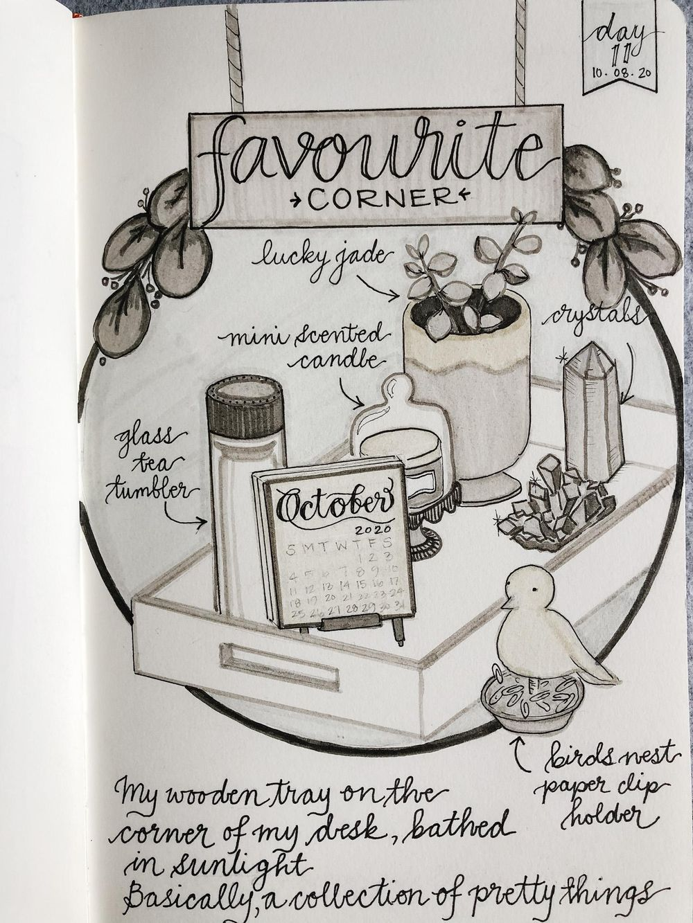Illustrated Journalling 28 day challenge- PT 1 - image 4 - student project
