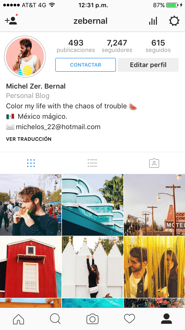 Photos that represent my instagram - image 1 - student project