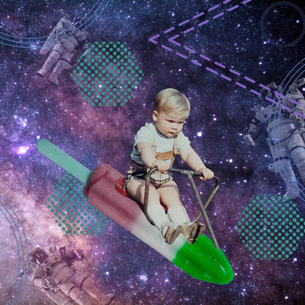 Toddler in space - image 1 - student project