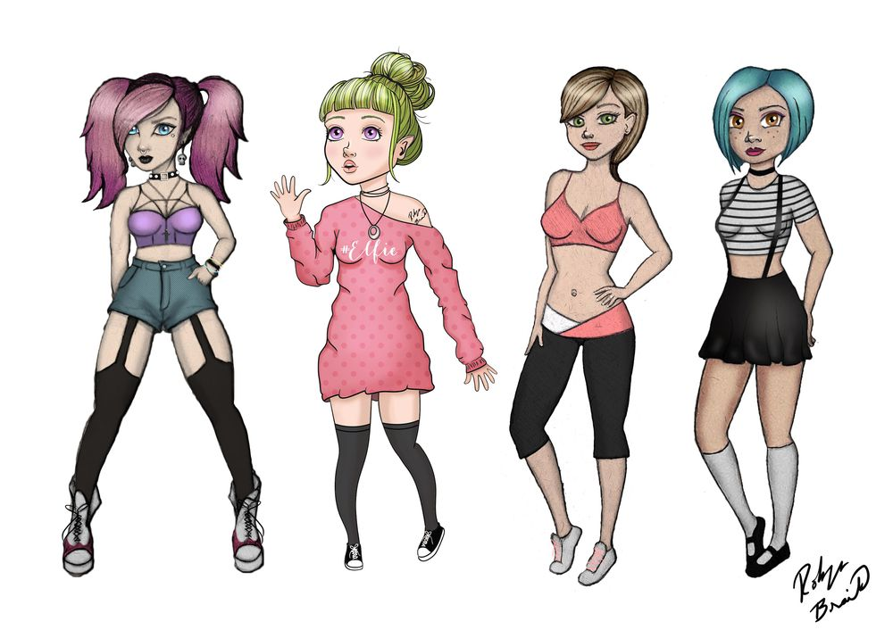 attractive female characters in a line-up - image 1 - student project