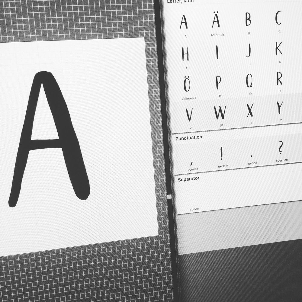 My own new font – slothly weekend - image 2 - student project