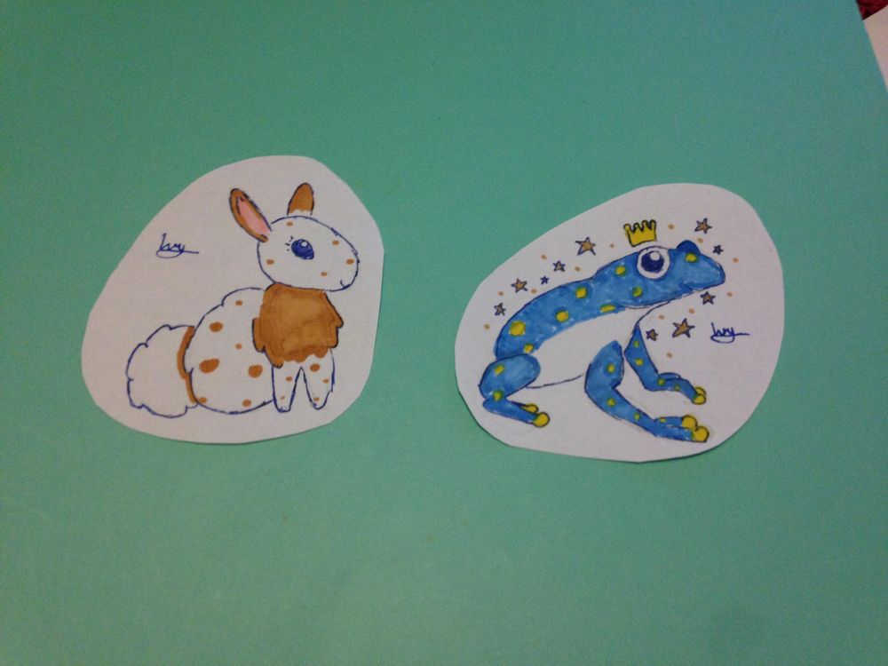 Cute rabbit and frog - image 1 - student project