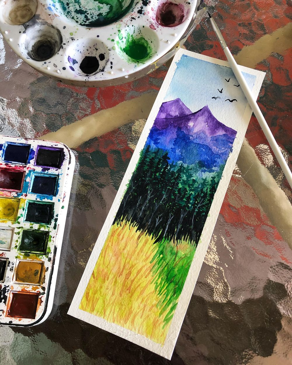 Watercolor Landscapes - image 2 - student project