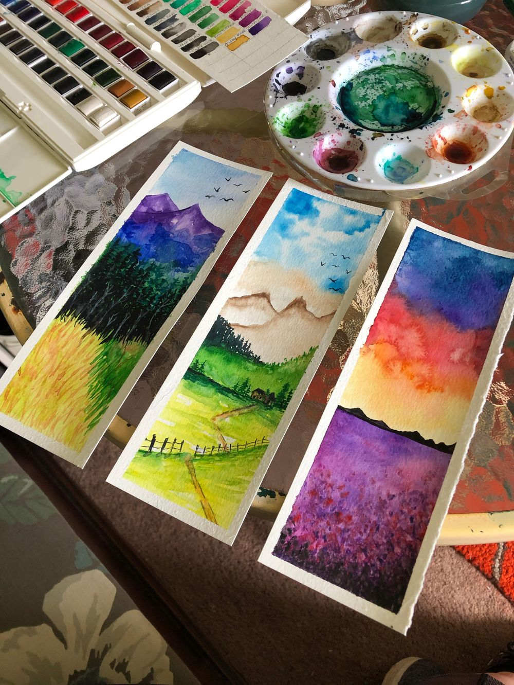 Watercolor Landscapes - image 1 - student project