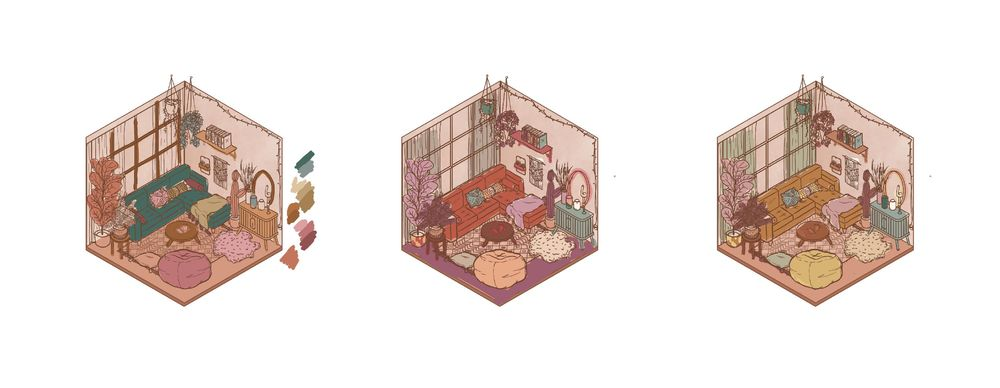 Isometric Room (Day & Night) - image 5 - student project