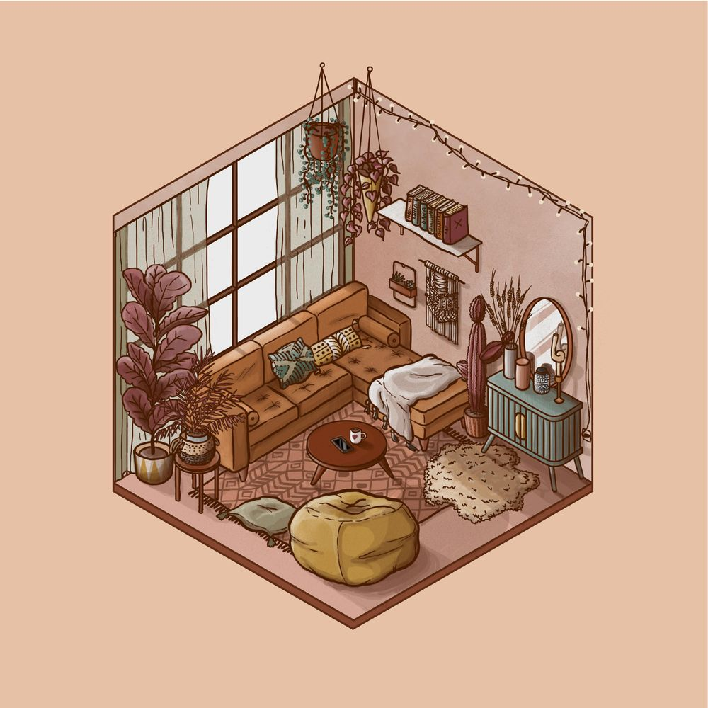 Isometric Room (Day & Night) - image 1 - student project