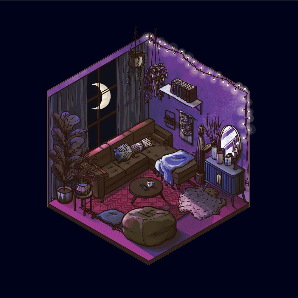 Isometric Room (Day & Night) - image 7 - student project