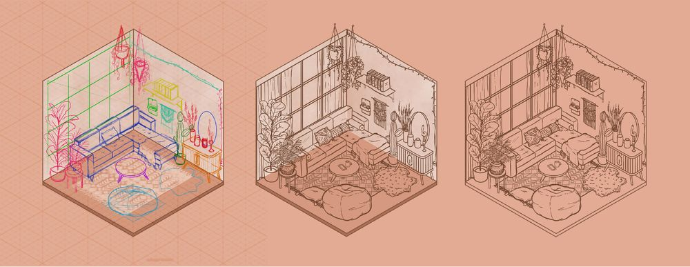 Isometric Room (Day & Night) - image 4 - student project