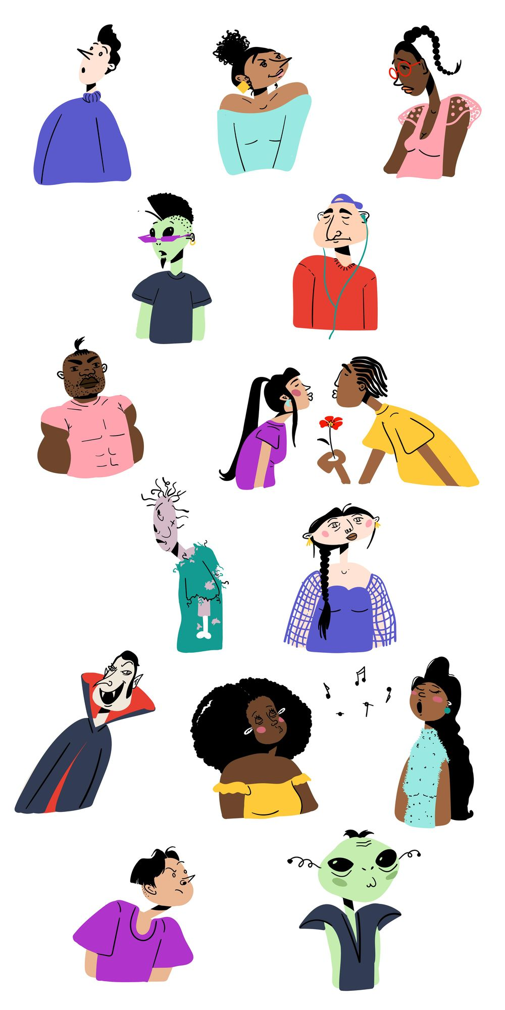 People Illustrations - image 6 - student project