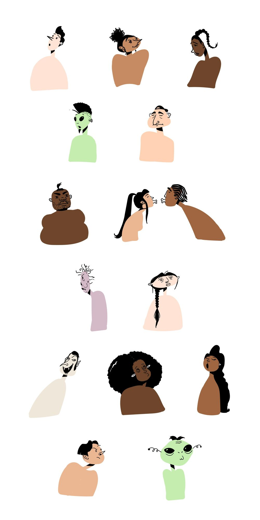 People Illustrations - image 5 - student project