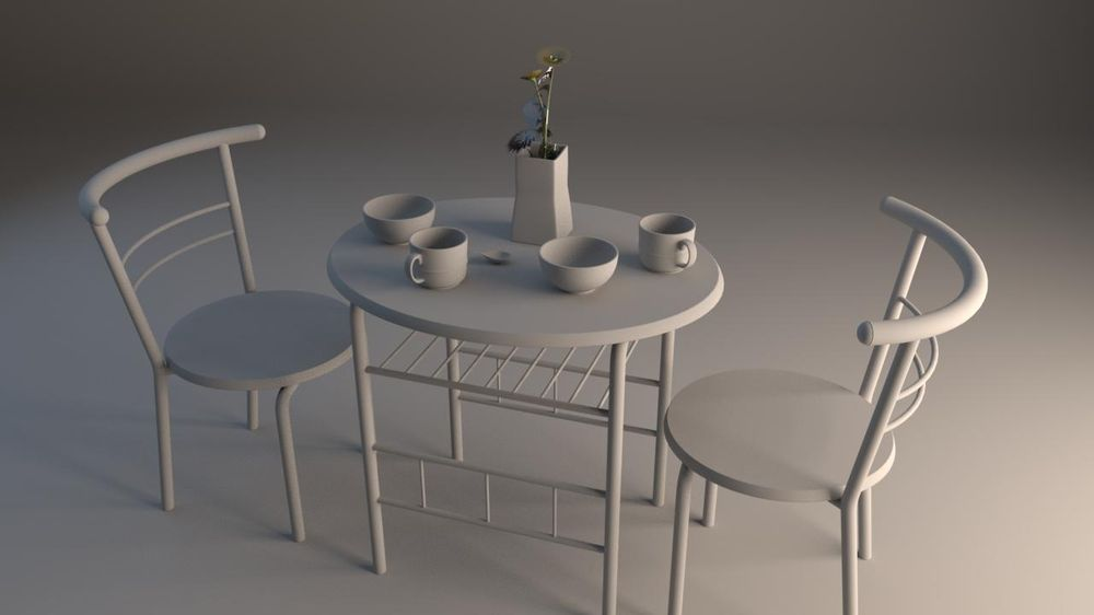 Table_modeling_by_Maya - image 1 - student project