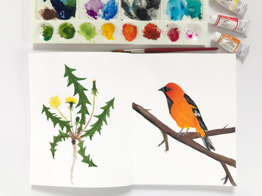 Painting with Gouache - image 3 - student project