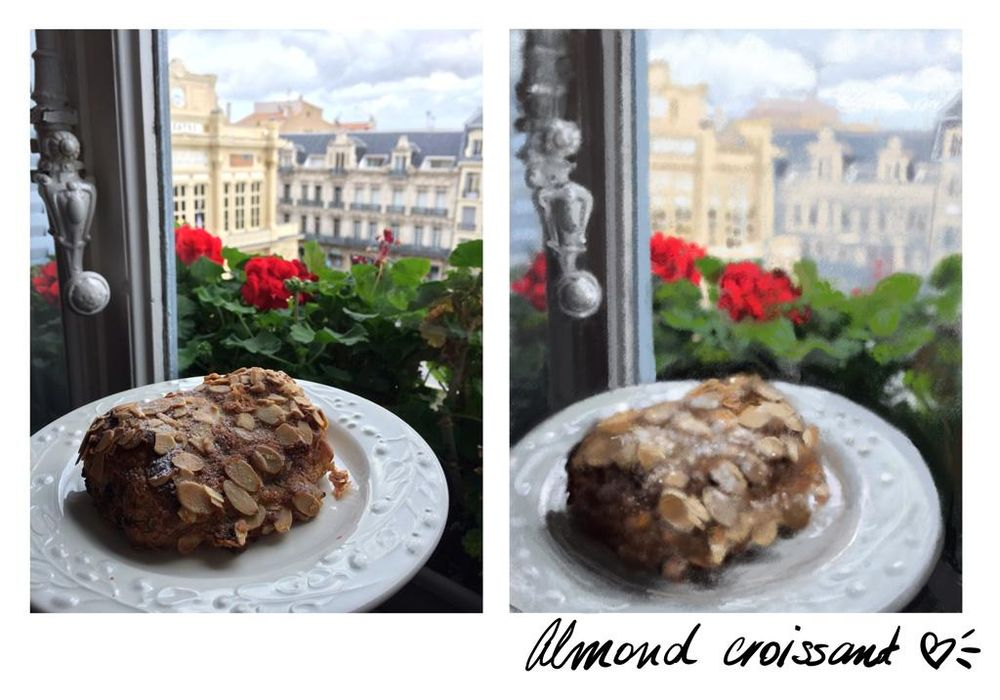 Almond croissant with a view - image 1 - student project