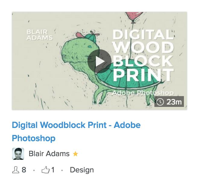 Digital Woodblock Print - Photoshop class - image 1 - student project