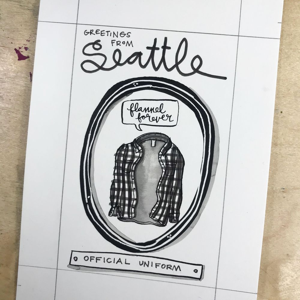 Imaginary Official Seattle Symbols - image 11 - student project