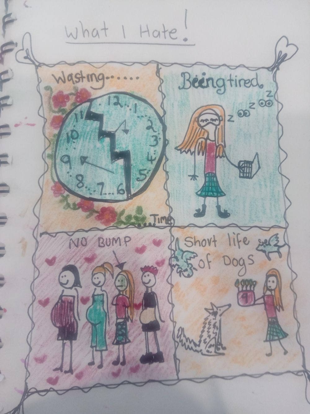 Visual Journaling drawing your feelings. - image 5 - student project