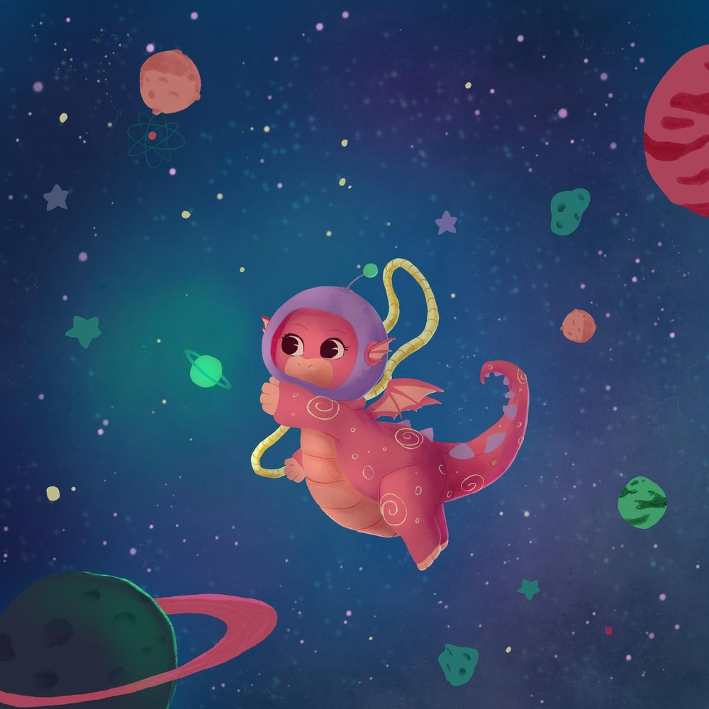 Luna, the Space Dragon - image 1 - student project