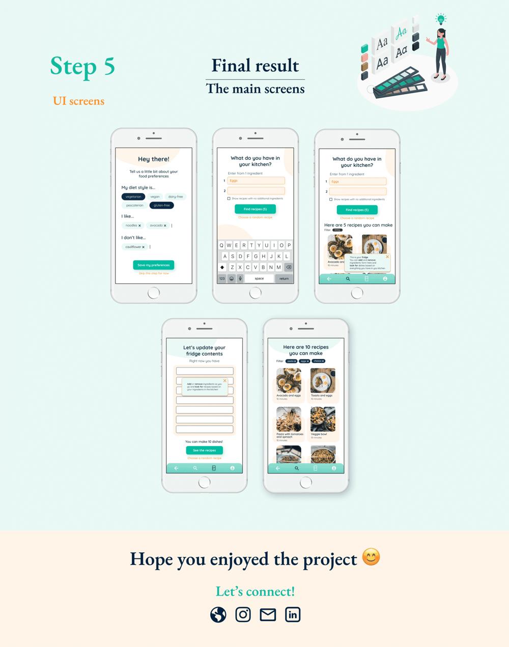 Recipe App - UX   UI Case Study - image 5 - student project