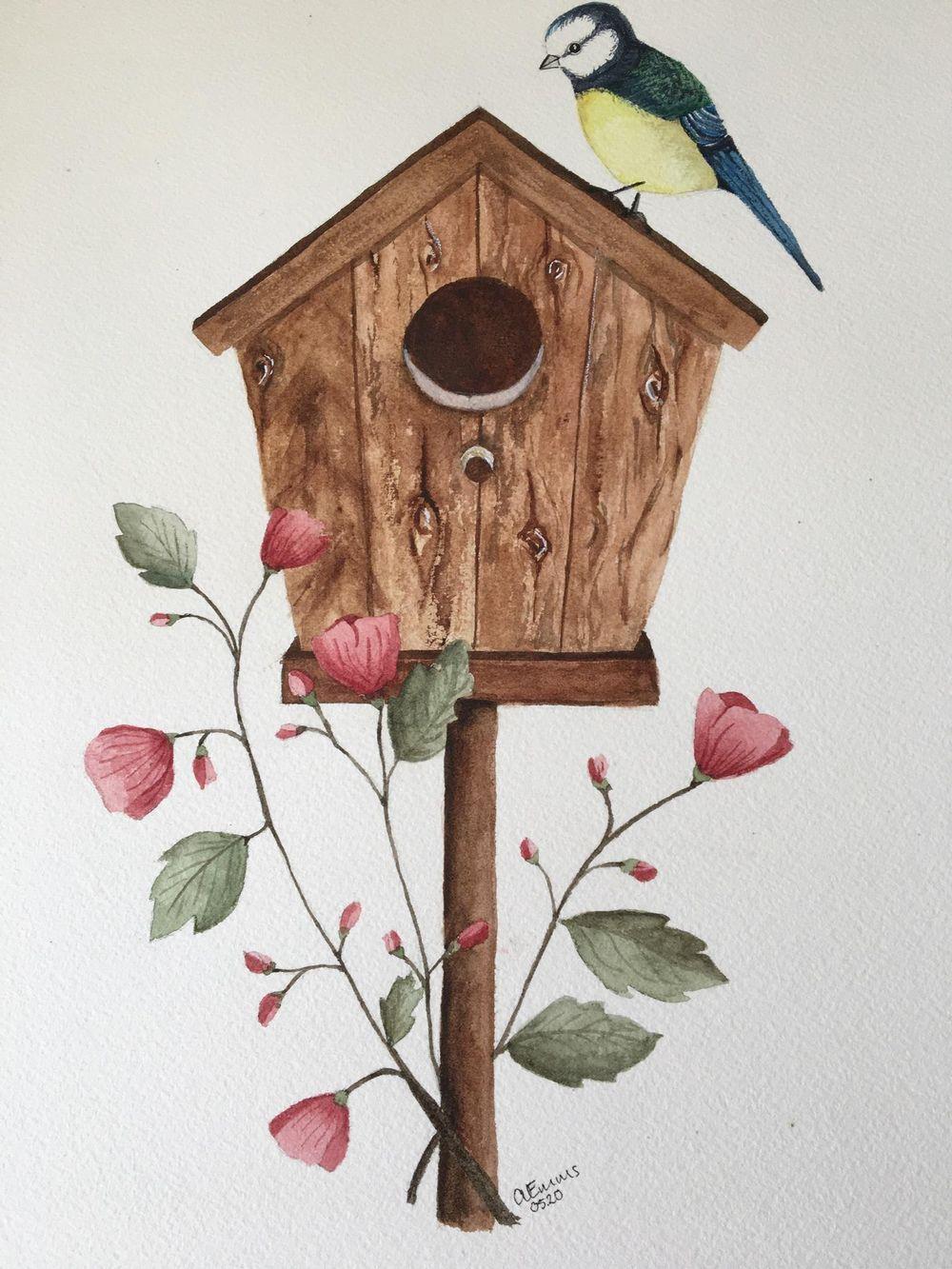 Birdhouse scene - image 1 - student project
