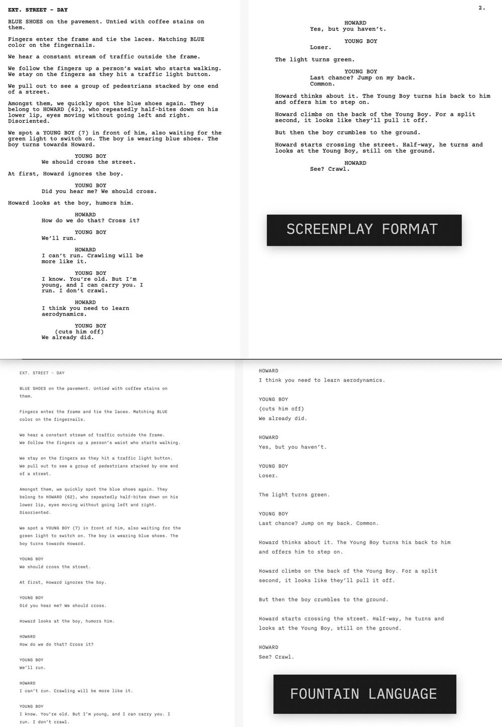 Write Your Screenplay using Fountain - image 1 - student project