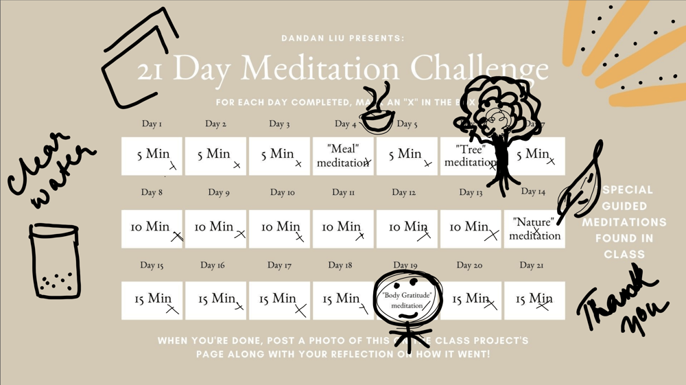 My reflections on Meditation 101 - image 1 - student project