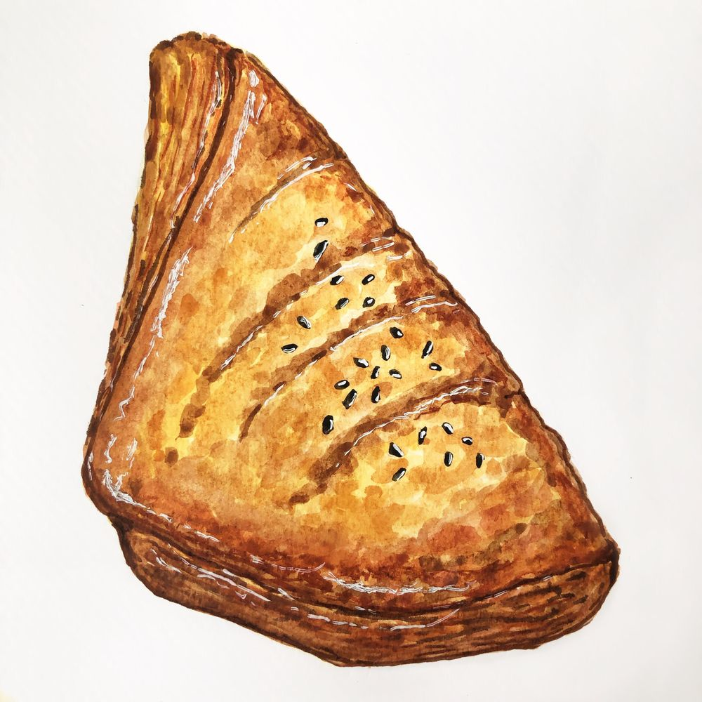 Pastry with watercolour - image 1 - student project
