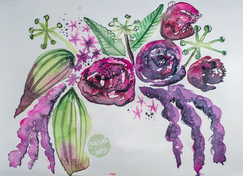 Floating florals - image 3 - student project
