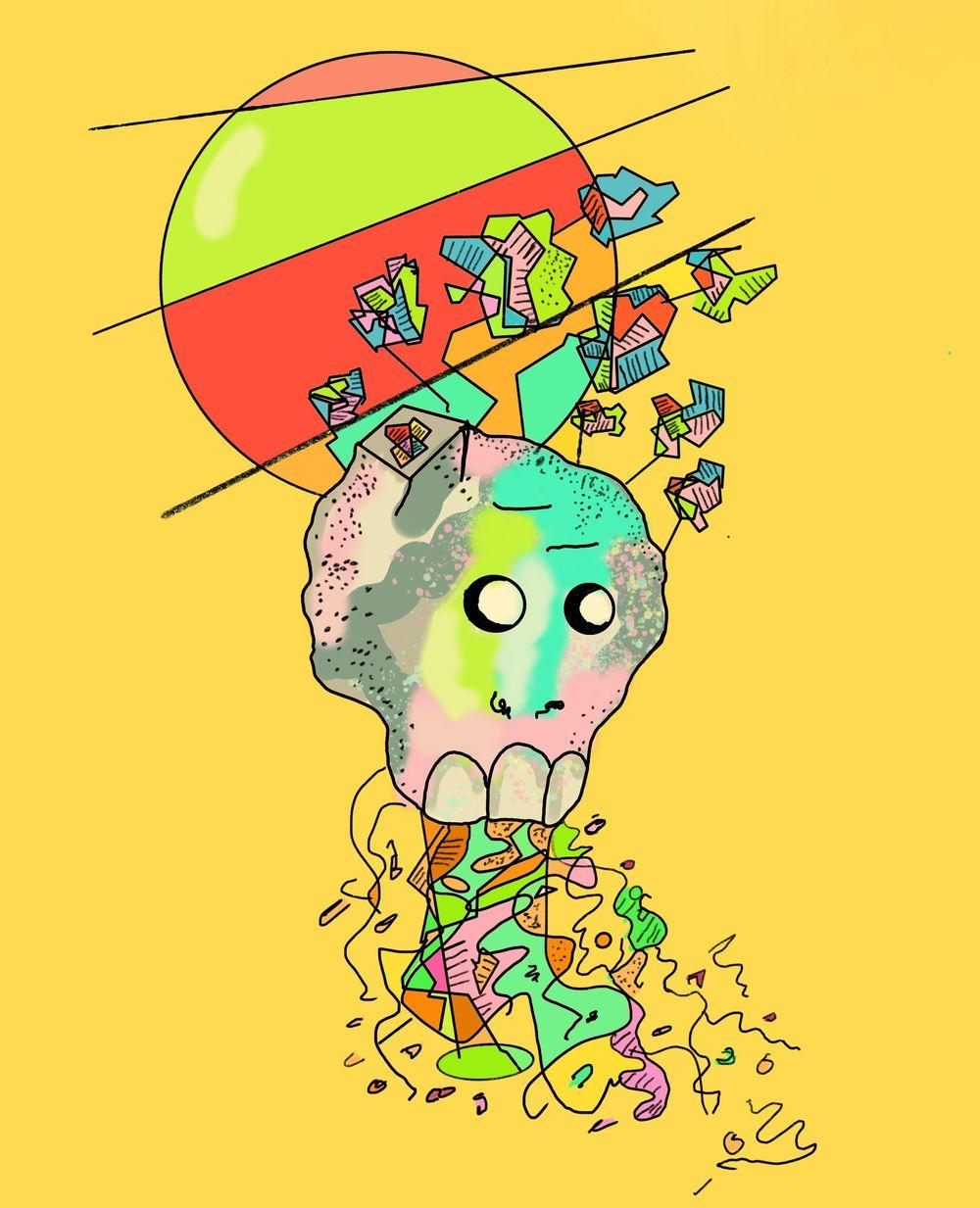 flower skull - image 1 - student project