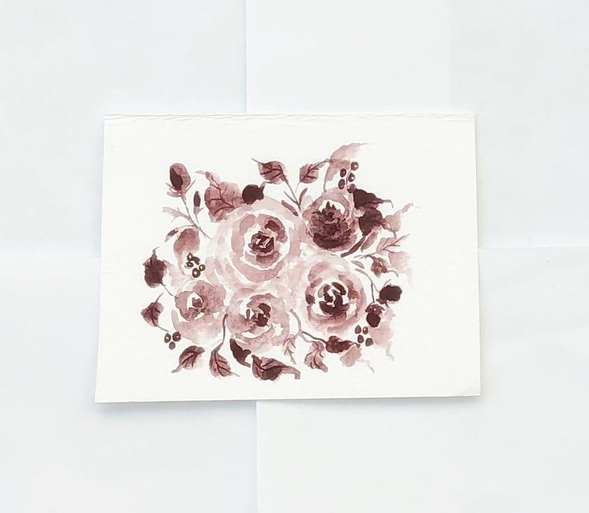 Monochrome rose bouquet - image 1 - student project
