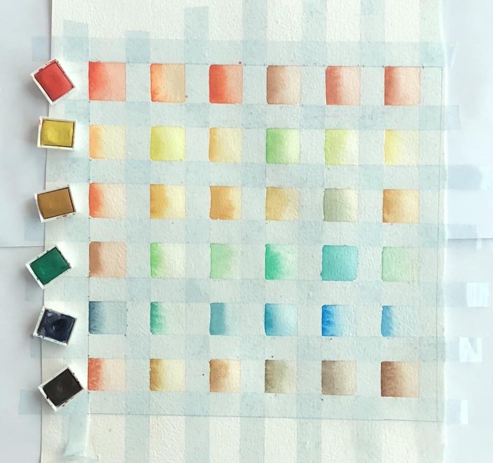 Winsor & Newton Cotman Color chart - image 2 - student project