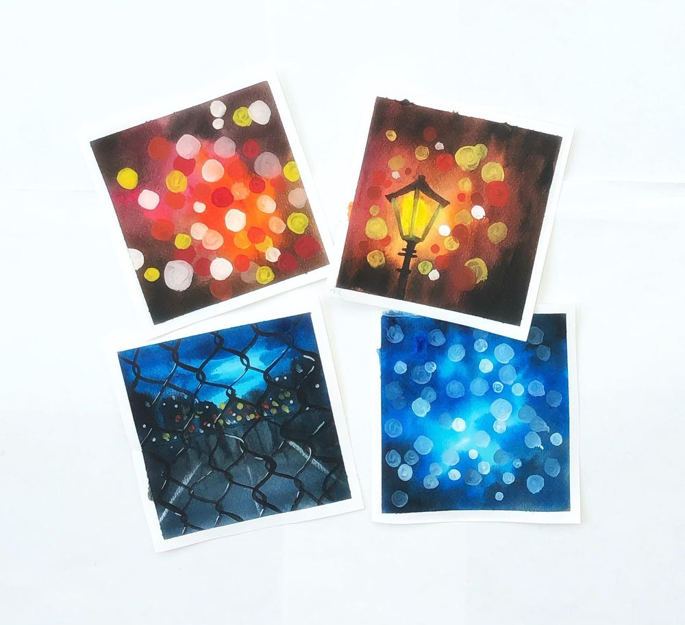 Watercolor bokeh - image 1 - student project