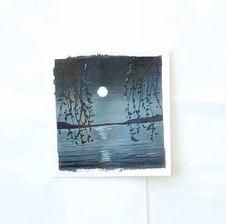 Monochrome acrylic painting - image 1 - student project