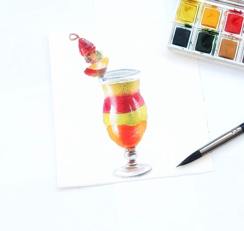 Watercolor illustration - image 1 - student project