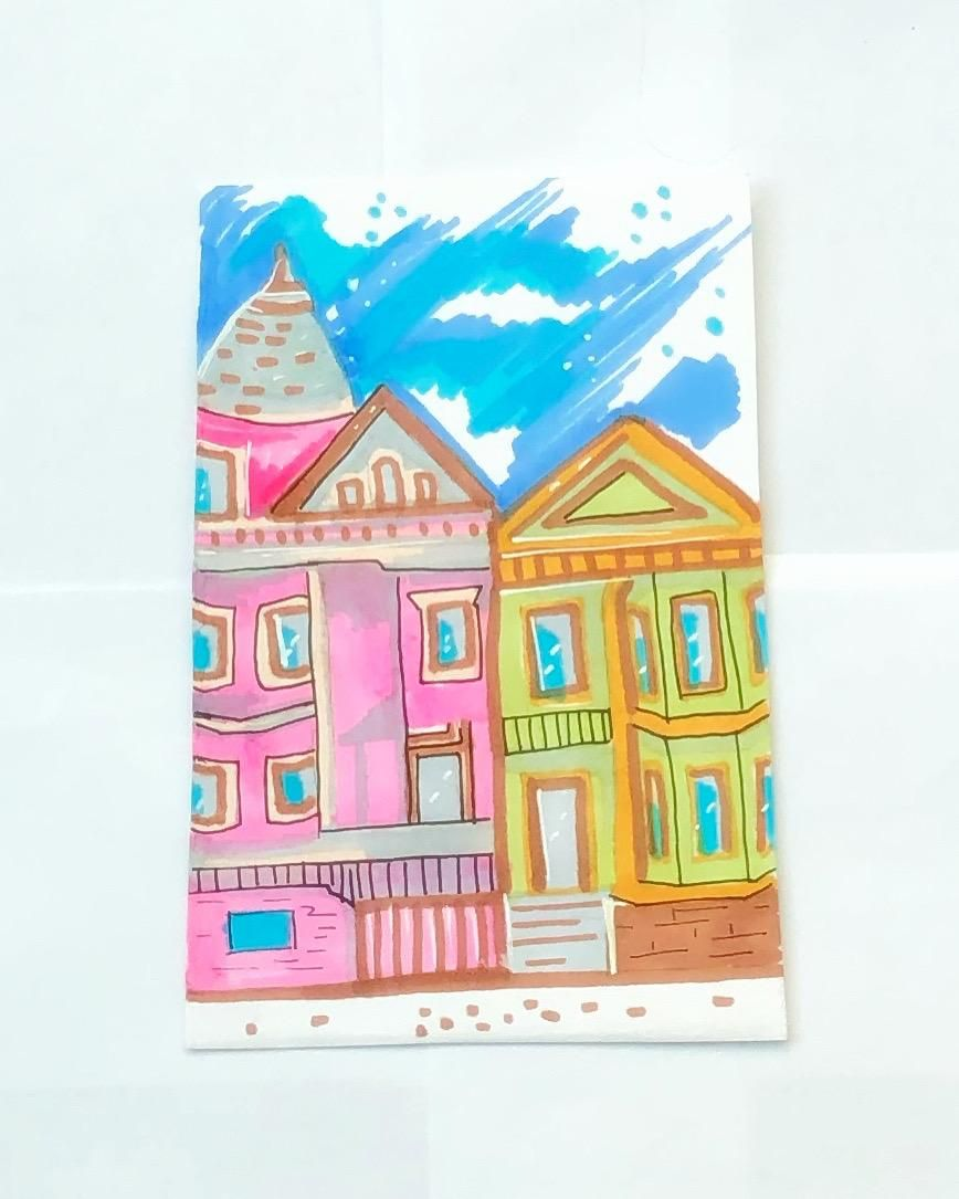 Urban sketching with markers - image 1 - student project