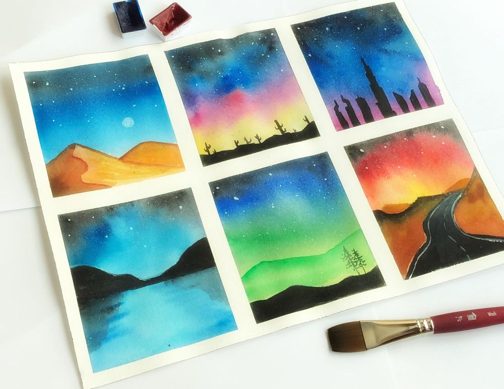 Watercolor Galaxies - image 1 - student project