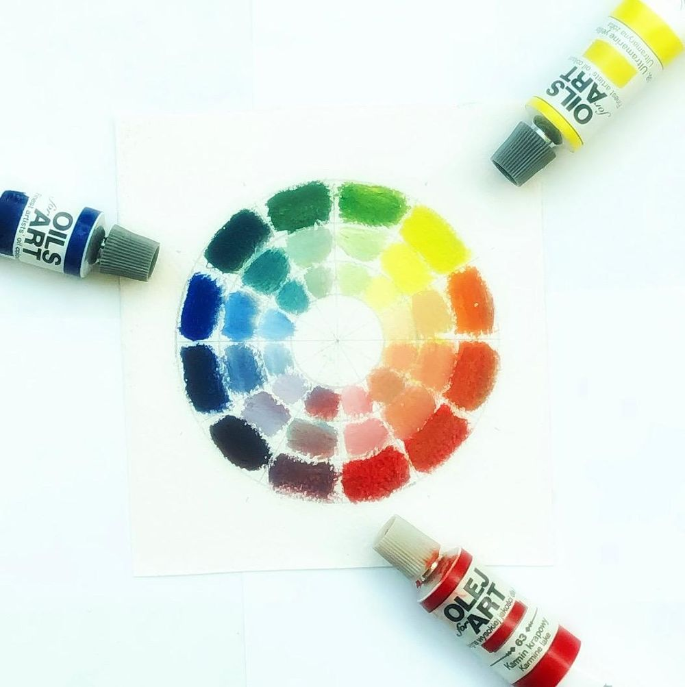 Color wheel + value scale - image 1 - student project