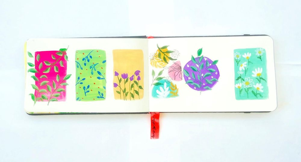 Patterns in gouache - image 1 - student project