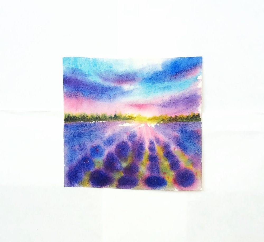 Watercolor lavender dreams - image 1 - student project