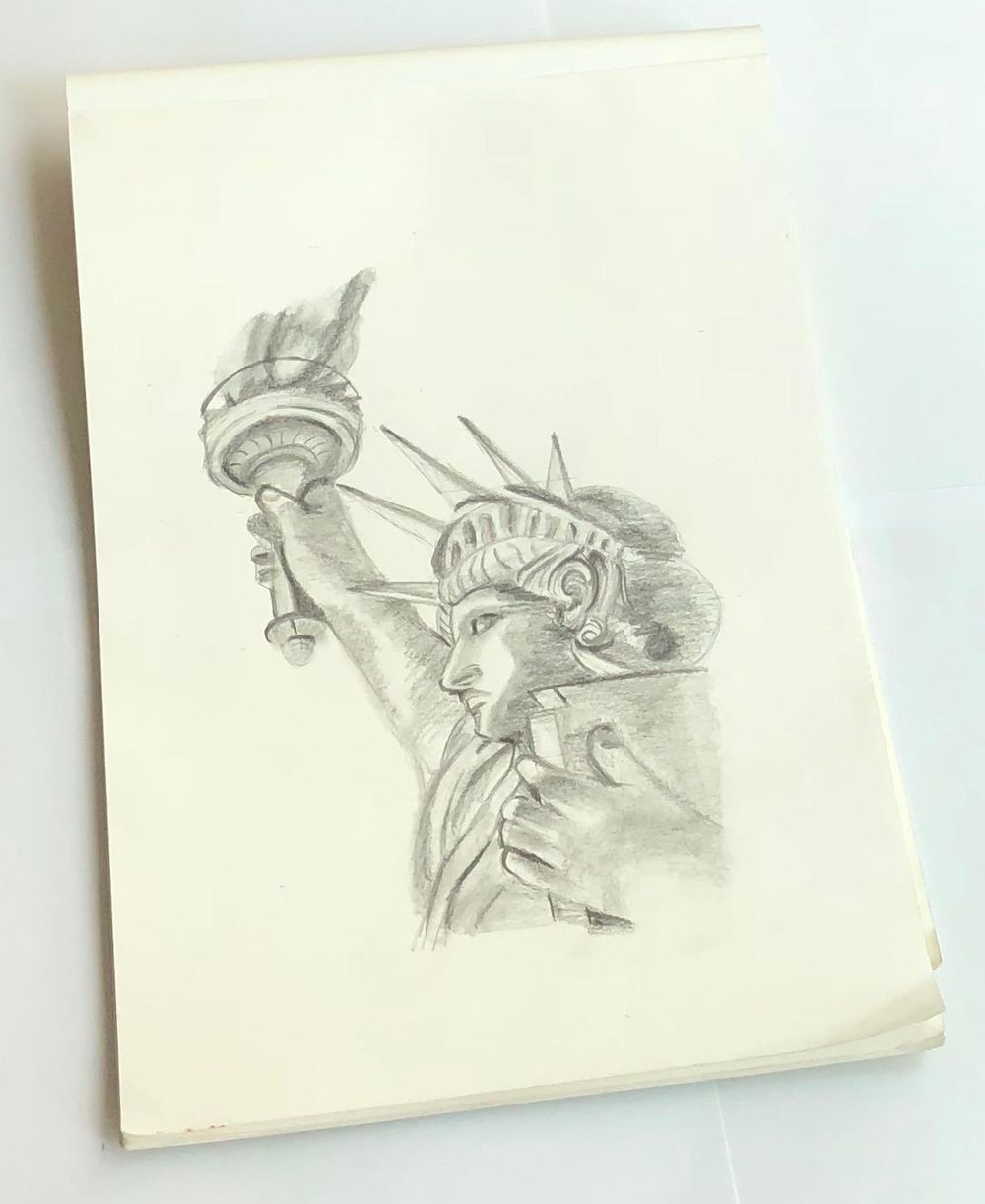 Statue drawing - image 2 - student project