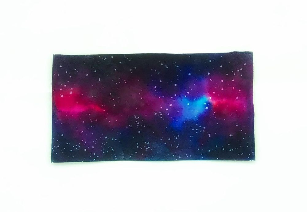 Watercolor galaxy - image 1 - student project