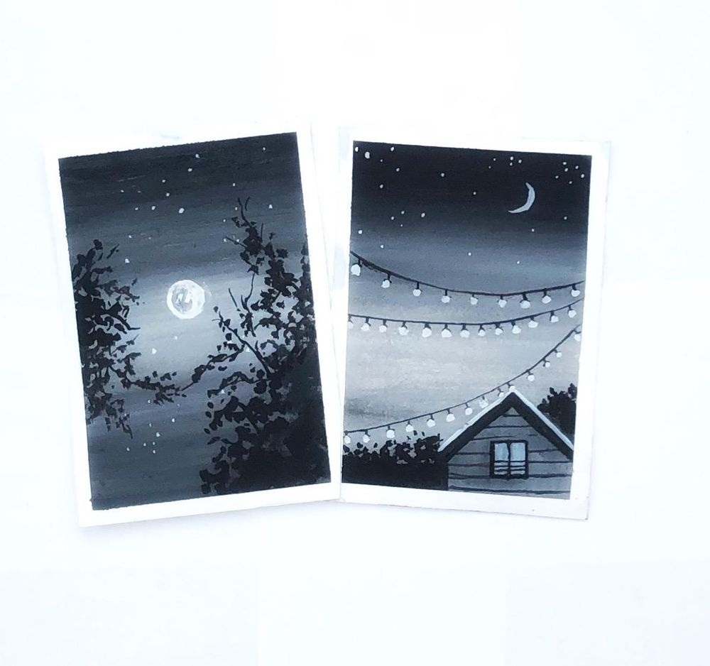 Gouache black and white - image 1 - student project