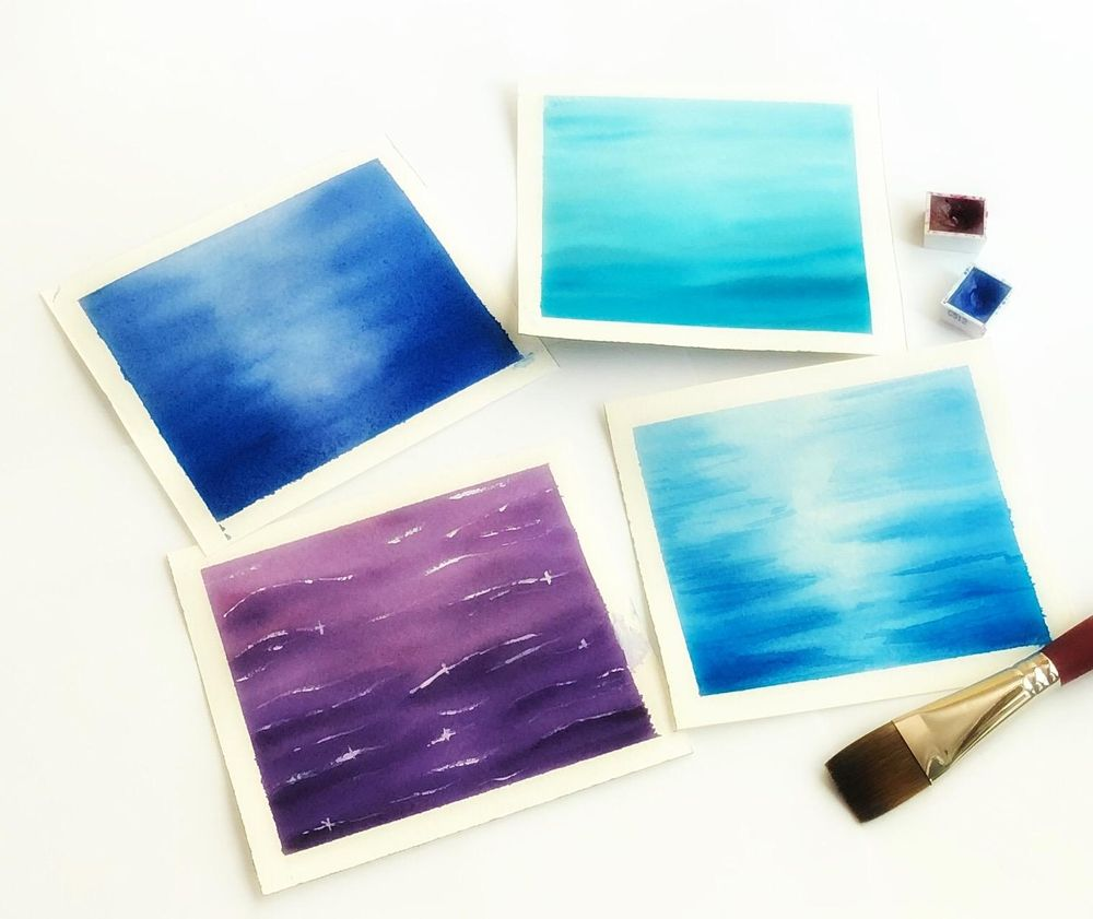 Watercolor water - image 1 - student project