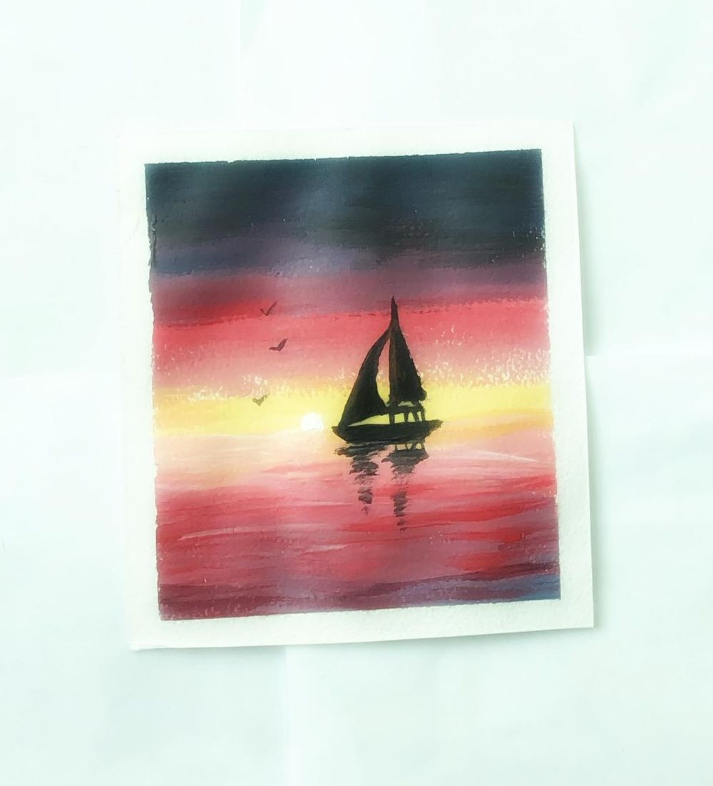 Acrylic landscape - image 1 - student project