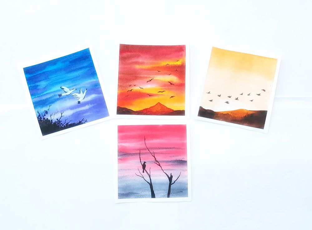Birds in watercolor - image 3 - student project