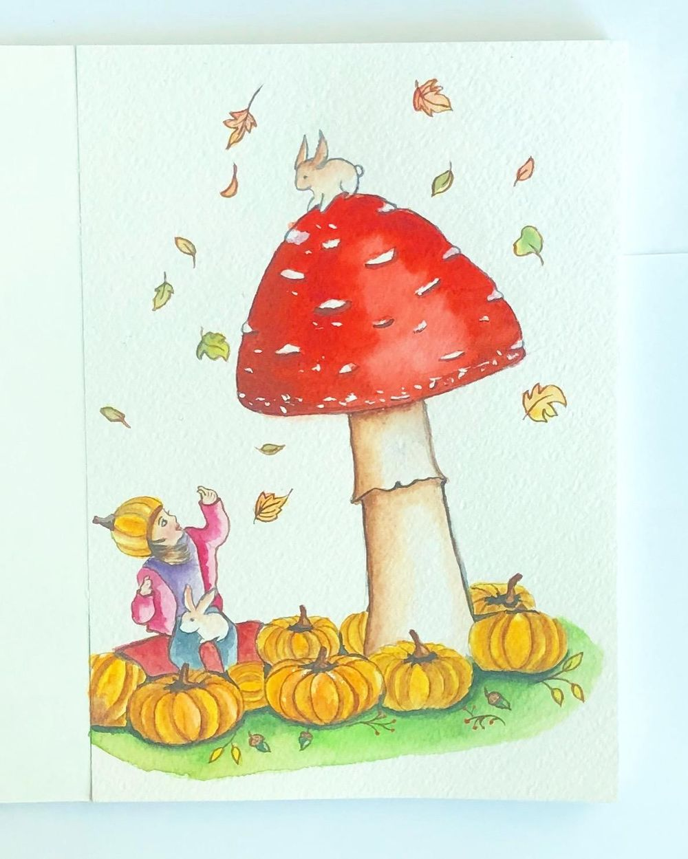Autumn in watercolour - image 1 - student project