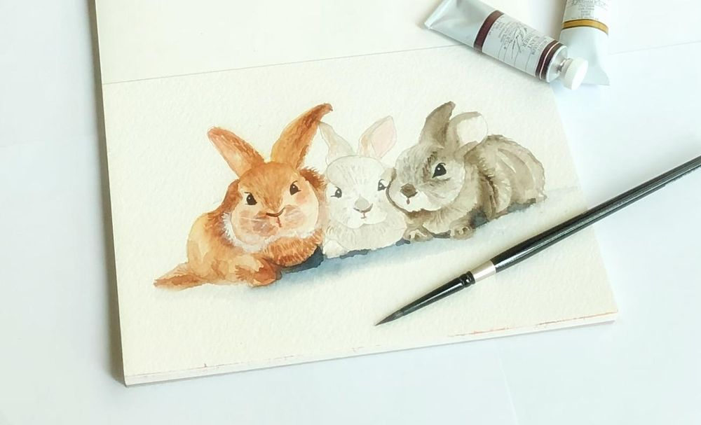 Painting fur in watercolor - image 1 - student project