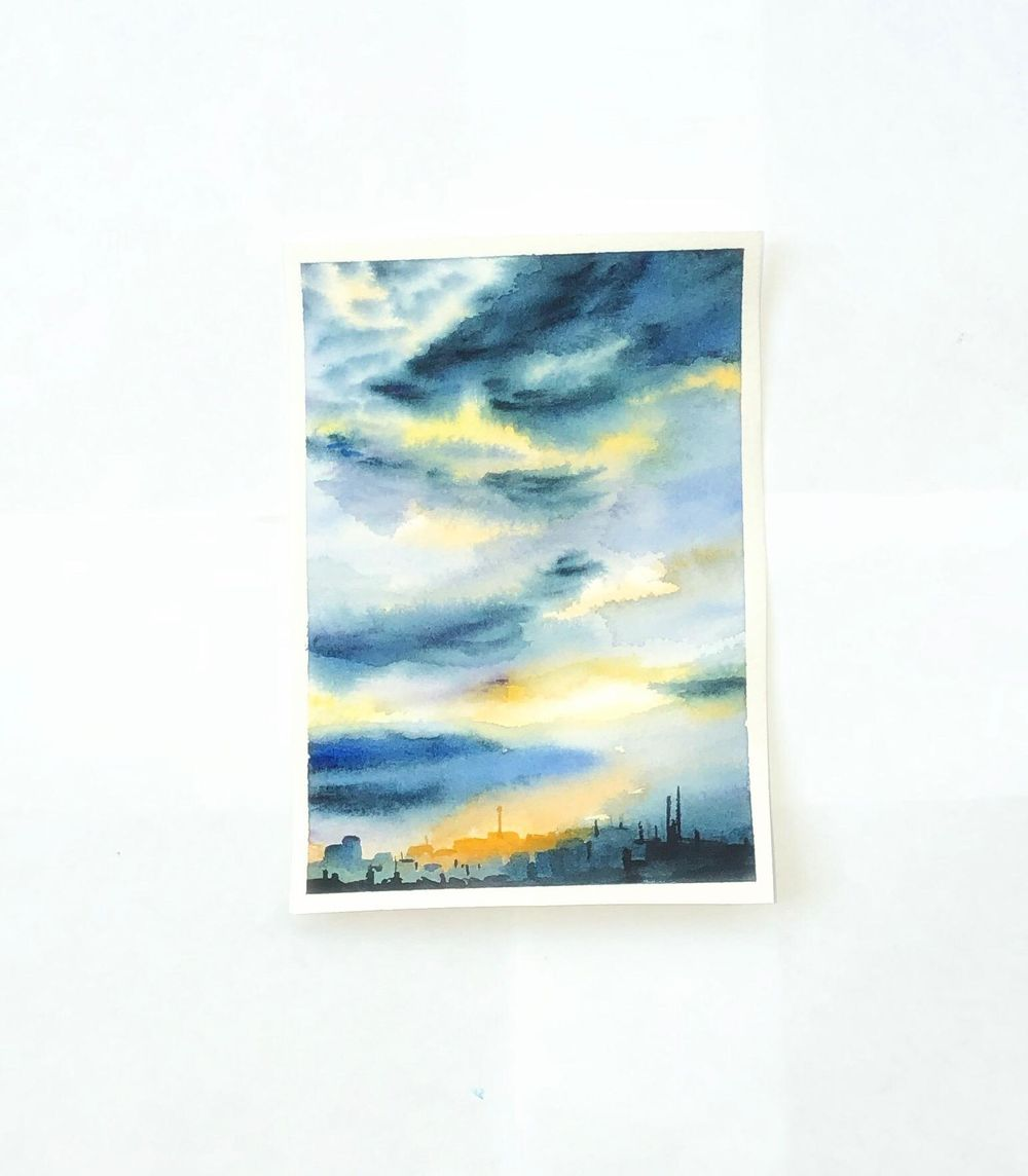 Watercolor sky - image 1 - student project