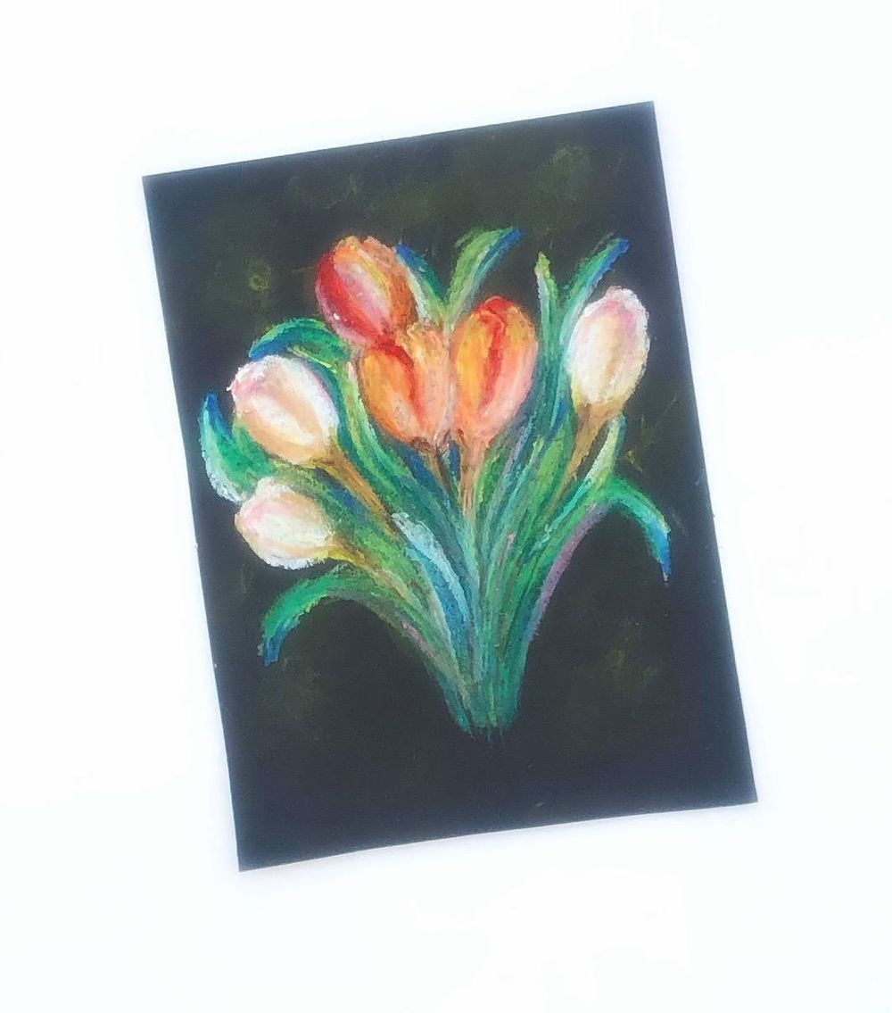 Oil pastel - image 1 - student project