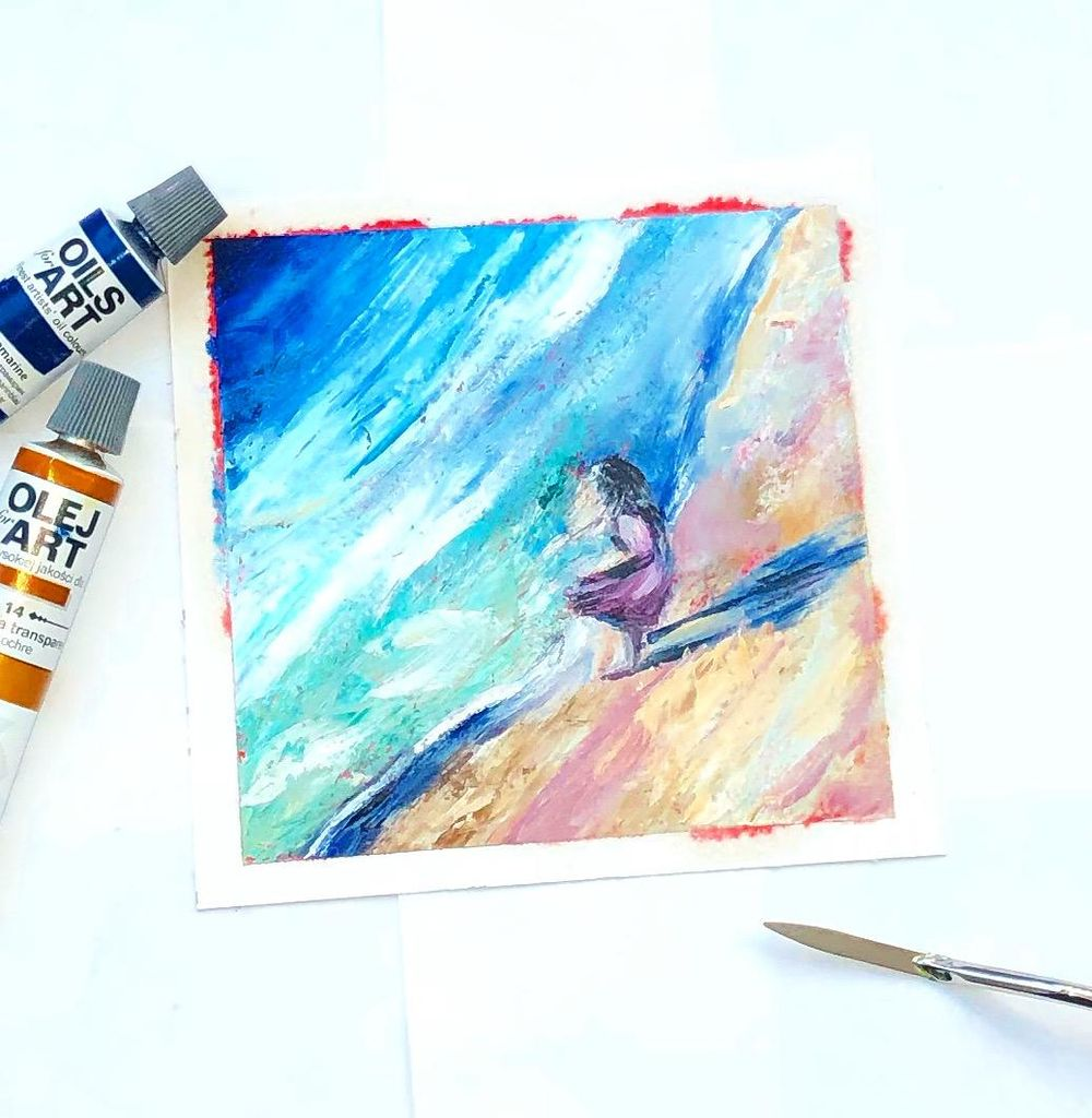Oil painting with palette knife - image 1 - student project
